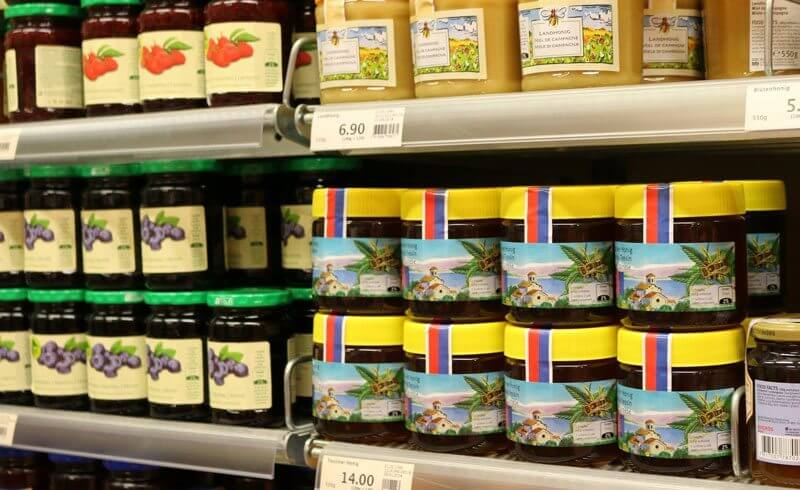 Grocery Shopping Migros Switzerland - Swiss Honey