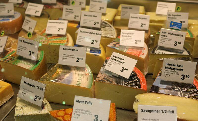 Grocery Shopping Migros Switzerland - Swiss Cheese