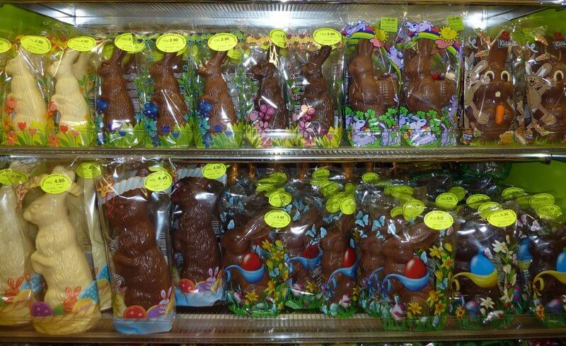 Grocery Shopping Migros Switzerland - Chocolate Easter Bunny