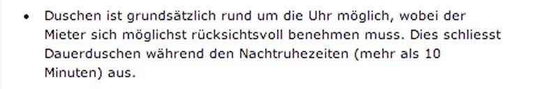 Weird Swiss Laws - Showering