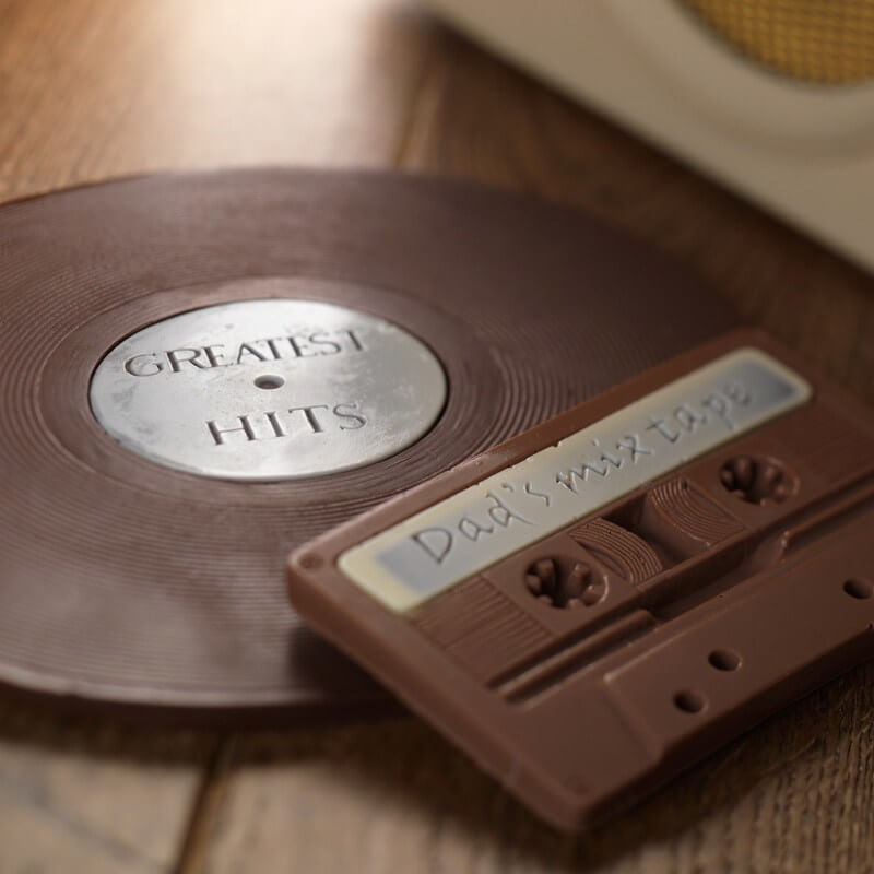 Chocolate Record Audio Tape