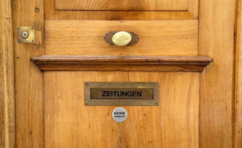 Swiss Home Door with Newspaper Slot