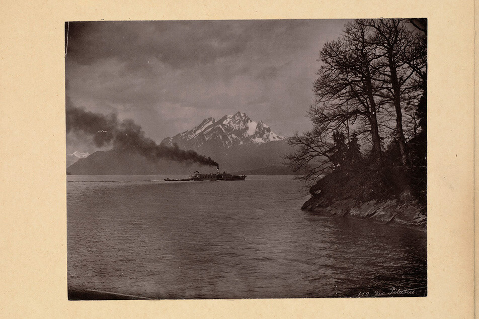 Lake Lucerne with Mount Pilatus in the 1940's