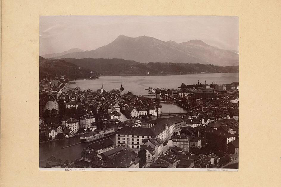 Lucerne, Switzerland, in the 1940's