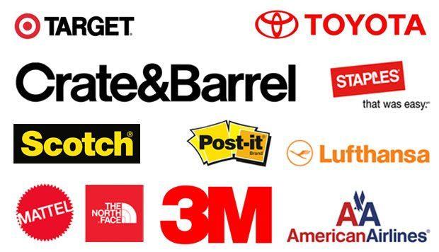 Helvetica Brand Logos