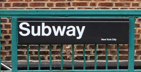 Helvetica Font on New York City Subway Sign