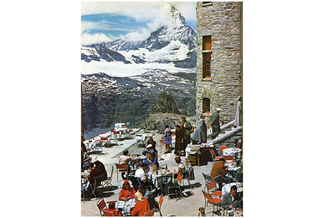 Vintage Swiss Postcard from 1964