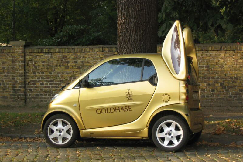 Lindt Bunny Smart Car