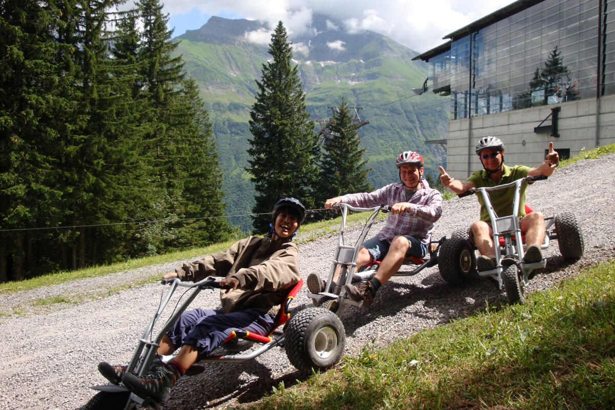 Mountain Carting in Elm, Switzerland