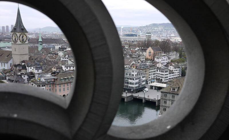 View from Grossmünster Zurich