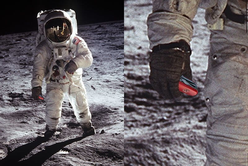 Buzz Aldrin Apollo 11 with Victorinox knife