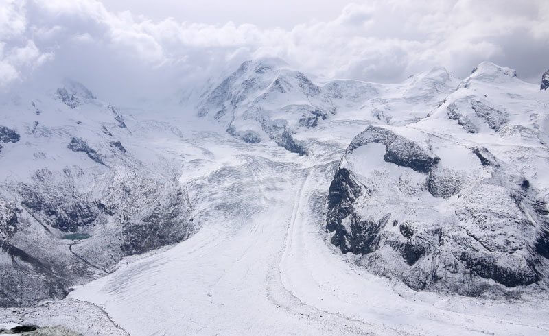 Gorner Glacier at Gornergrat, Switzerland