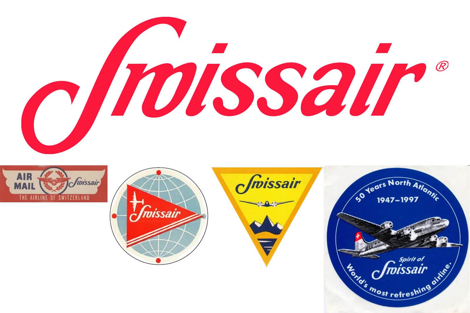 Swissair Posters and Logos - 1940s Swissair Logos
