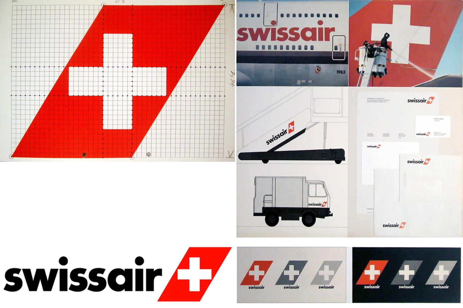 Swissair Posters and Logos - 1980s Swissair Logo