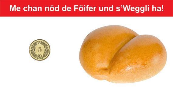 Swiss German Proverbs - Foifer und Weggli