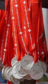 Jungfrau Marathon Medals