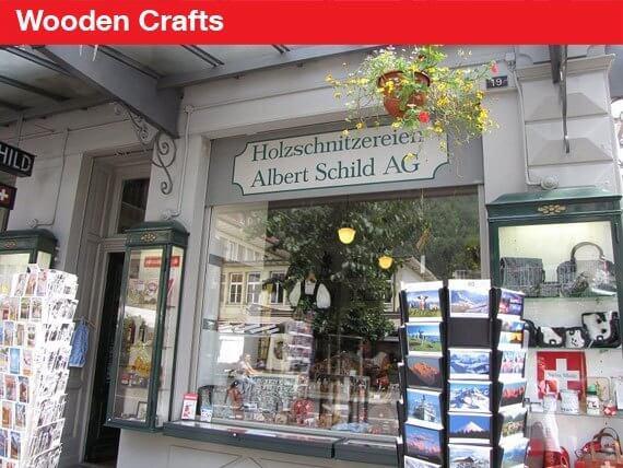 Swiss Souvenirs Wooden Crafts