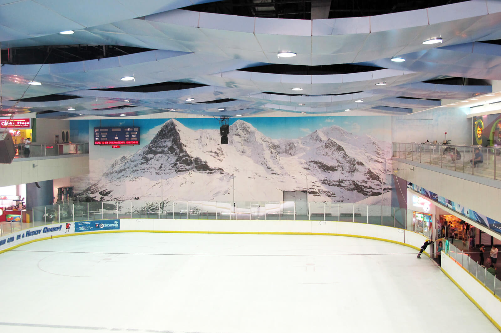 Swiss Themed Ice Rink in Manila
