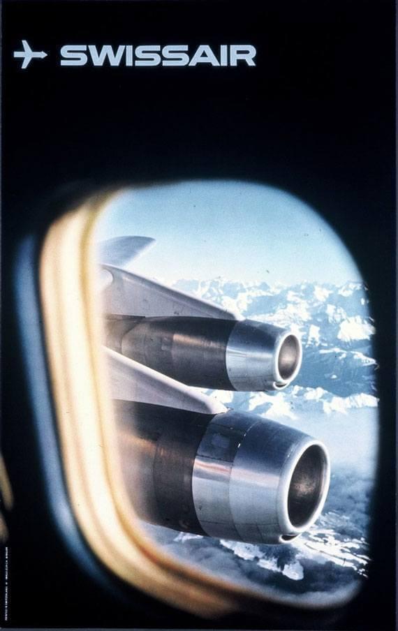 Vintage Swissair Poster by SR692.com