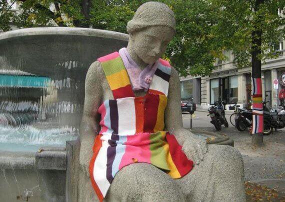Urban Knitting Zurich (© Franziska Schmid)