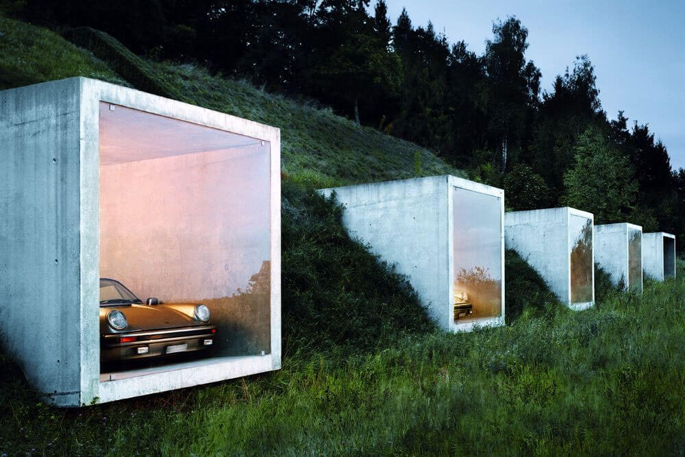 Modern Swiss Parking Garage by Peter Kunz Architektur
