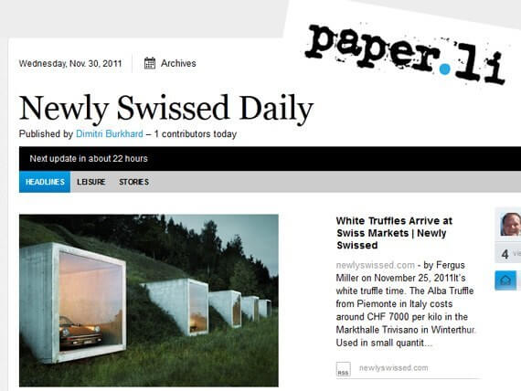 Newly Swissed Daily paper.li