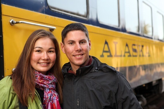 Alaska Railroad in Fairbanks, Alaska