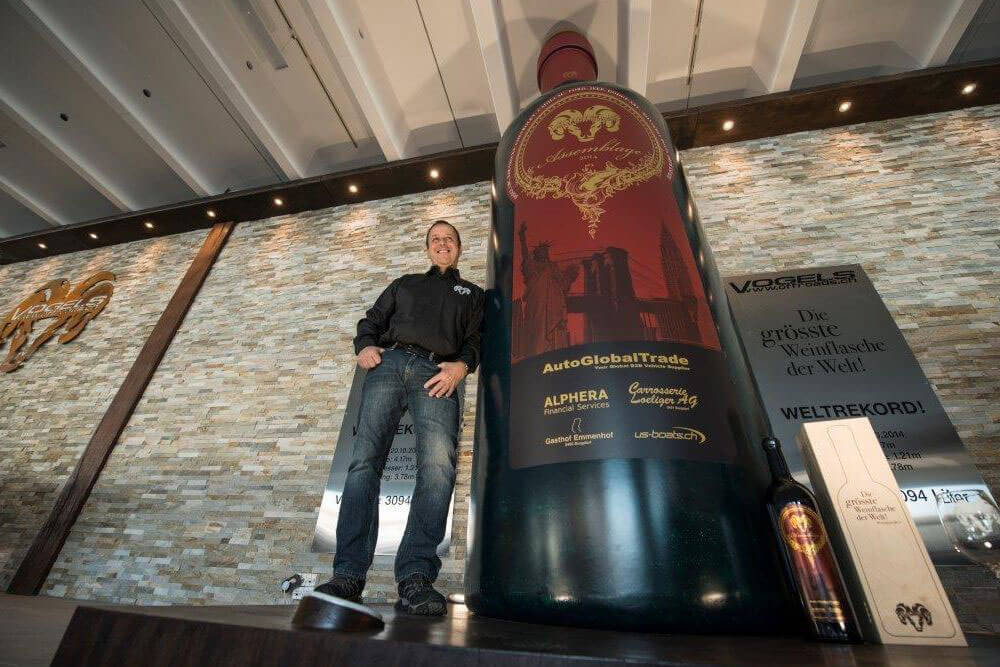 Swiss World Records - Largest Wine Bottle