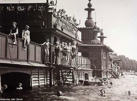 Zurich's Oldest Bathhouse - Uto in 1920