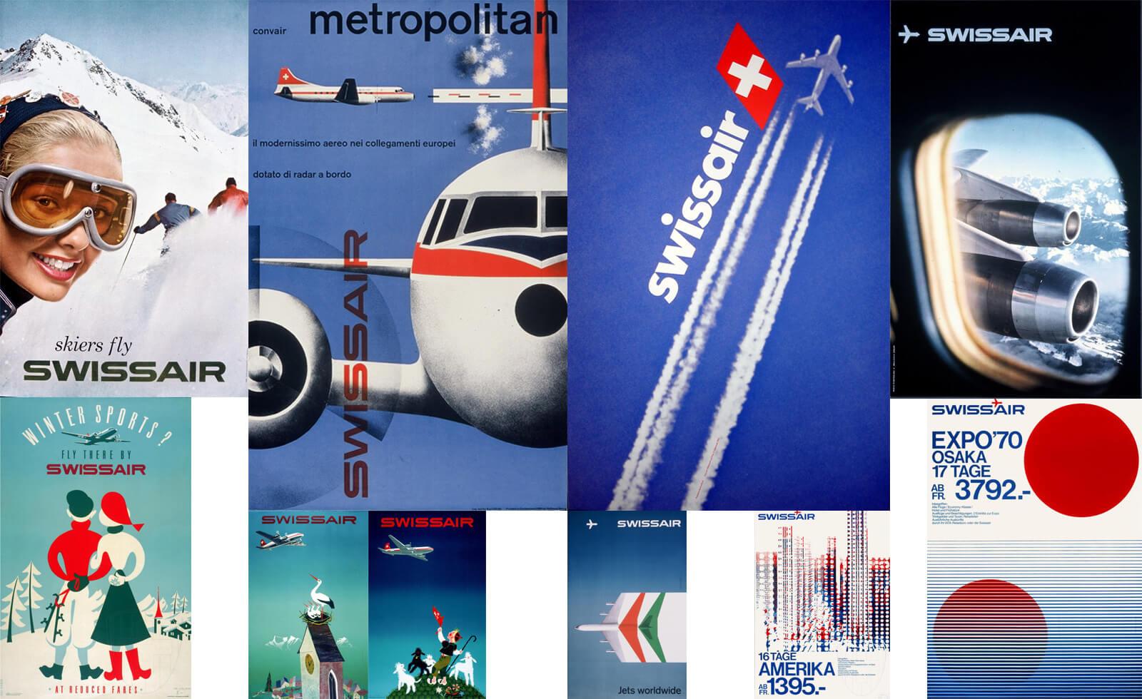 Vintage Swissair Posters