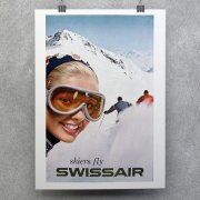 Vintage Swissair Airline Poster
