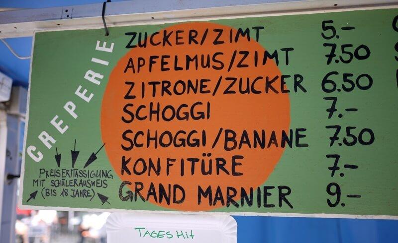 Swiss Street Food - Crepes at Hirschenplatz in Zürich