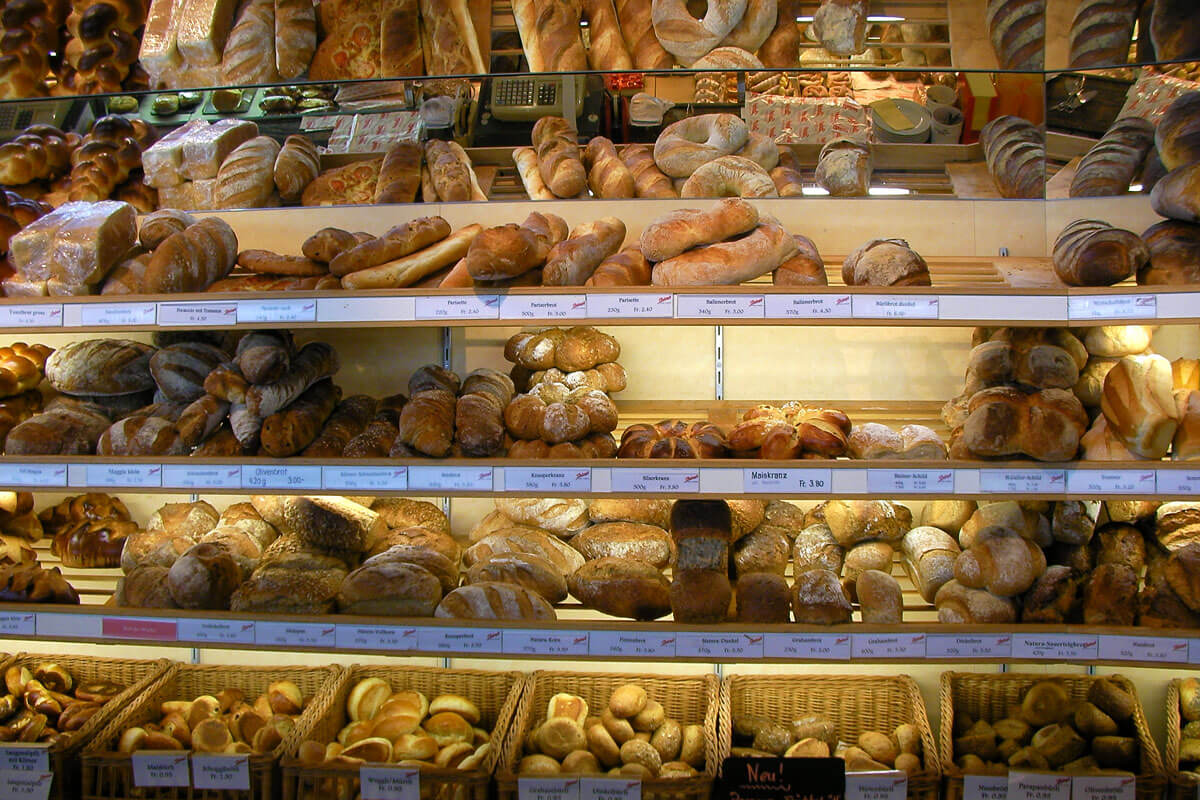 Swiss Bread Display