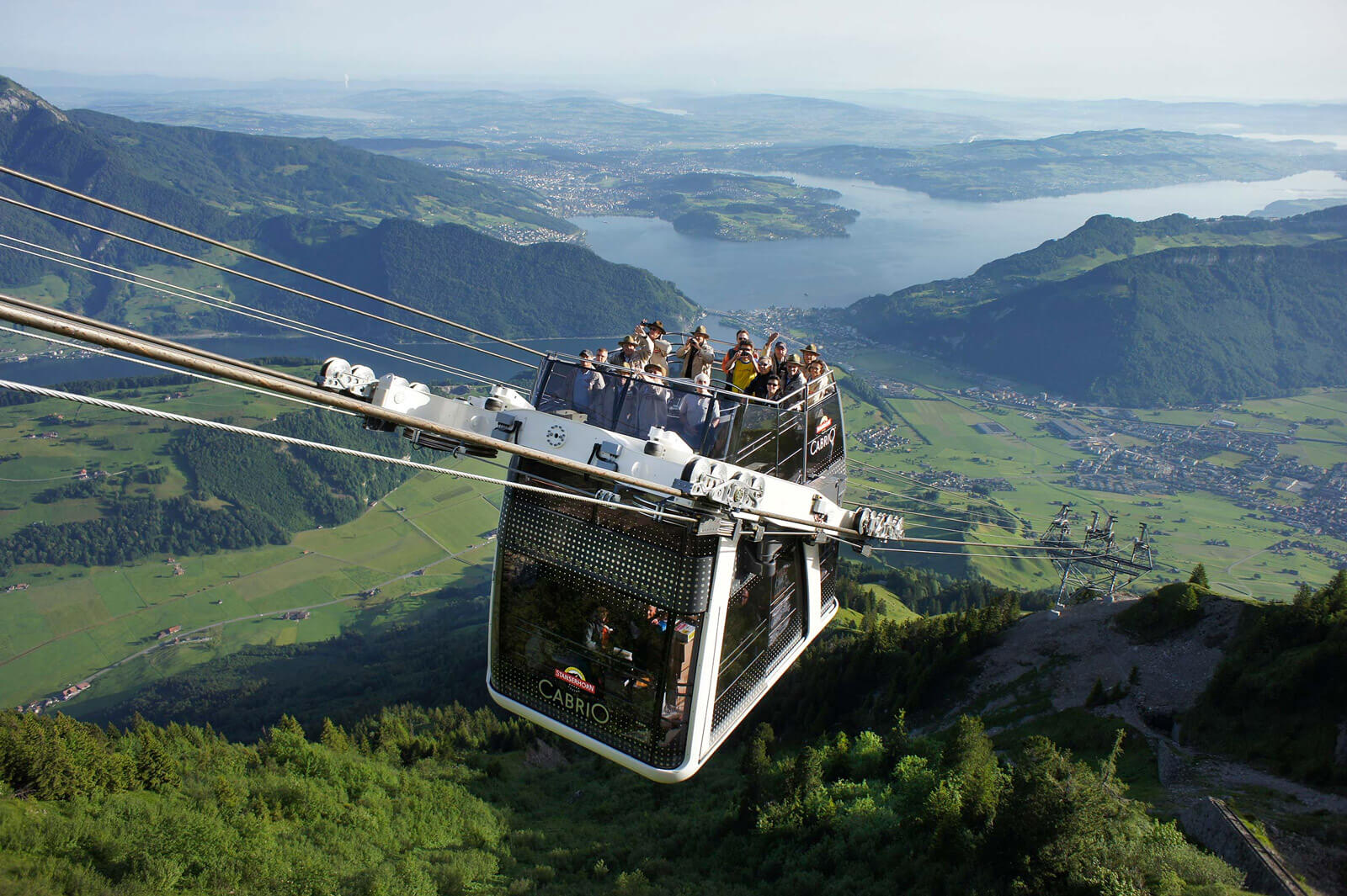 CabriO Cable Car at Stanserhorn, Switzerland