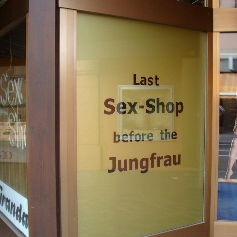 Last Sex Shop before the Jungfrau, Interlaken, Switzerland