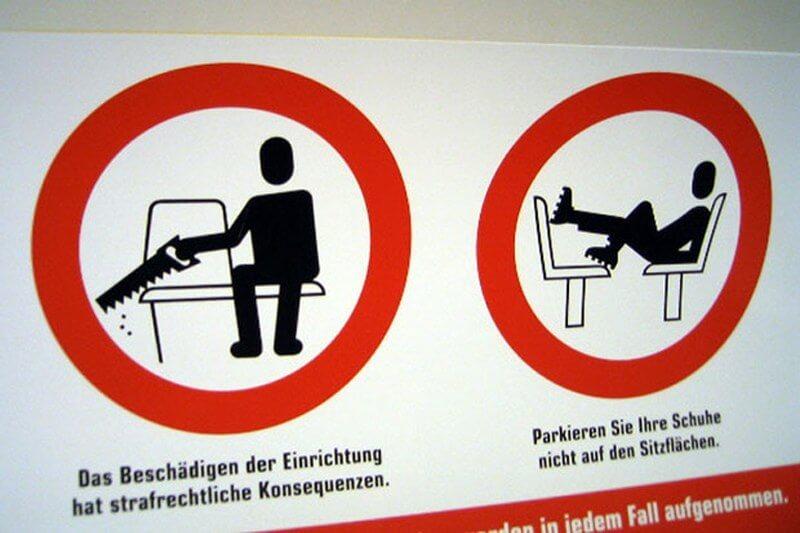 Switzerland Tram Signage