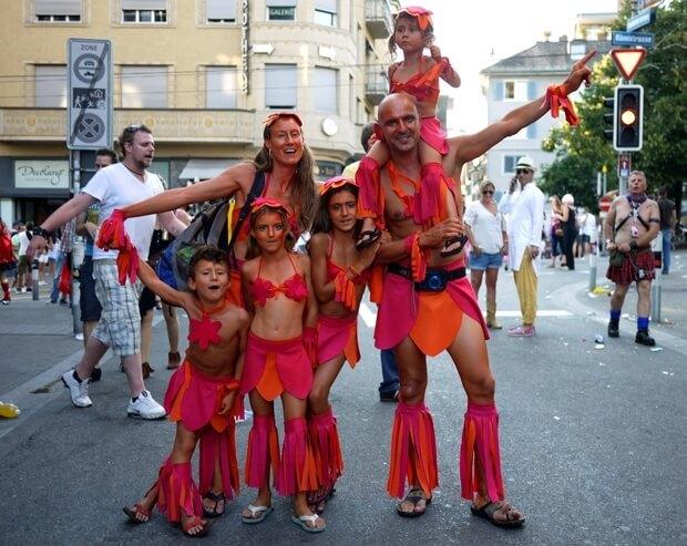 Street Parade in Zurich August 2012