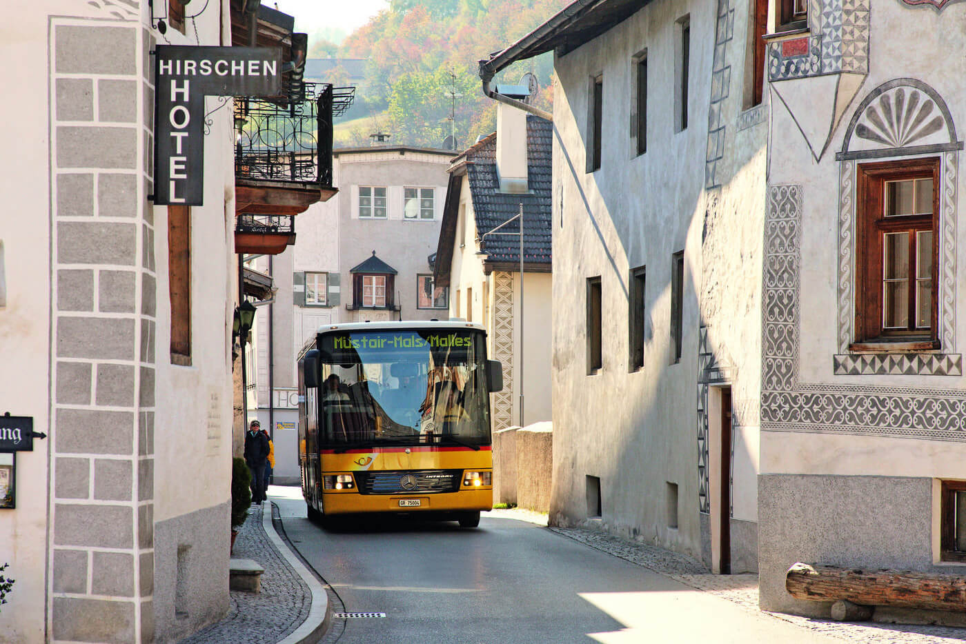 Swiss PostBus in Grisons, Switzerland