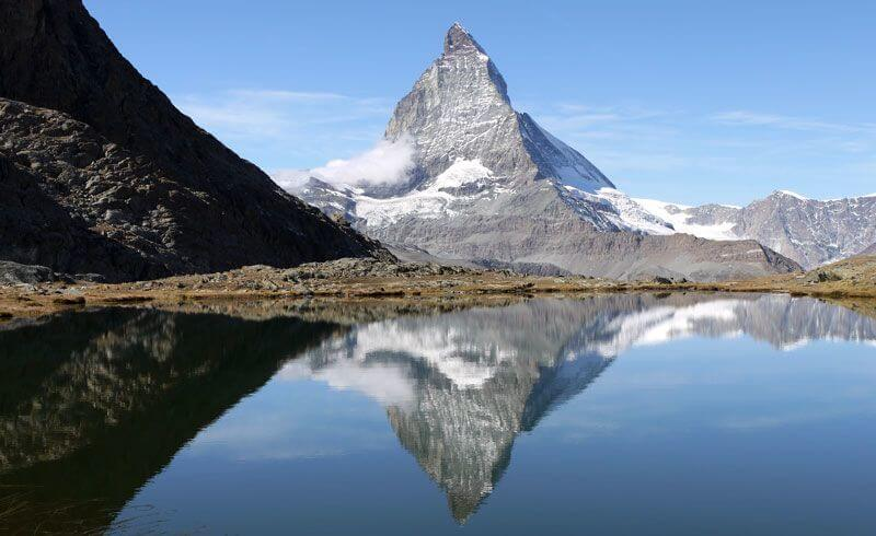 Visiting Zermatt - Matterhorn at Riffelsee