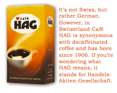 Swiss Grocery Products - Café HAG