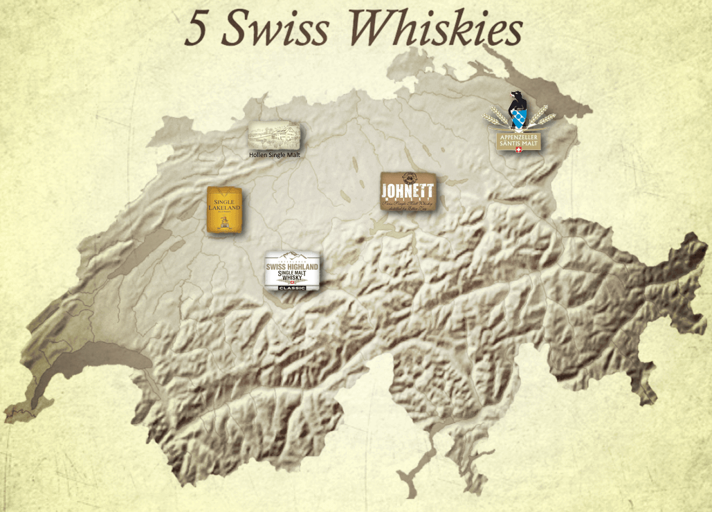 Swiss Whisky Map