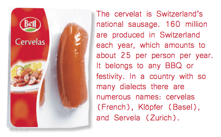Swiss Grocery Products - Cervelat