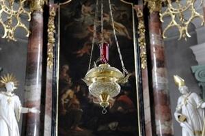 Eternal Light in Naefels Church, Switzerland