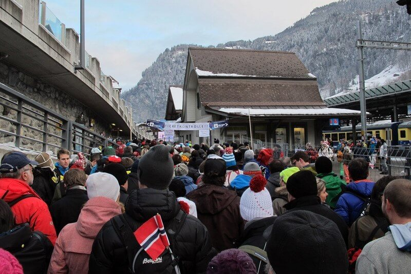 Lauterbrunnen Ski Race 2013 - Queue