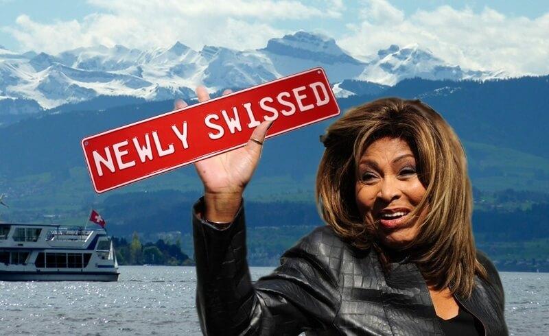 Tina Turner turns Newly Swissed