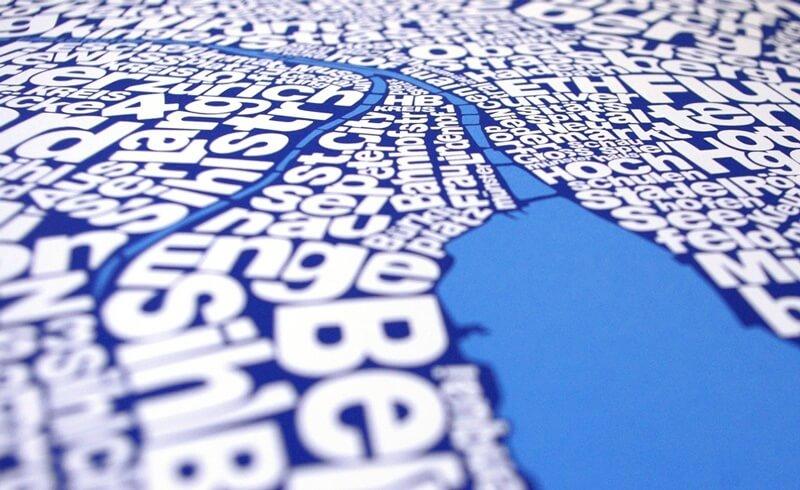 Ursula Hitz - Typography Map Zurich