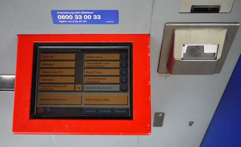 Swiss Touch - SBB Ticket Machine