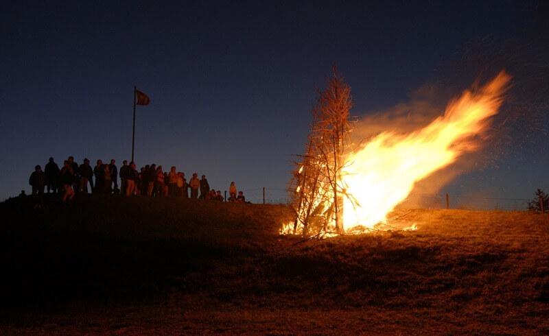 Feuer - Nationalfeiertag Schweiz