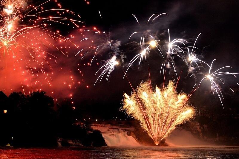 Rheinfall Firework Display