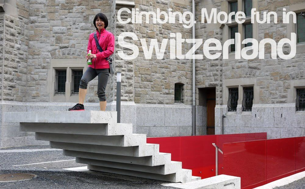 More Fun in Switzerland - Climbing